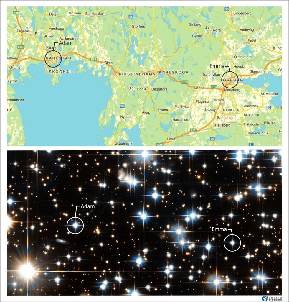Stjärnnamn-Kartnamn
